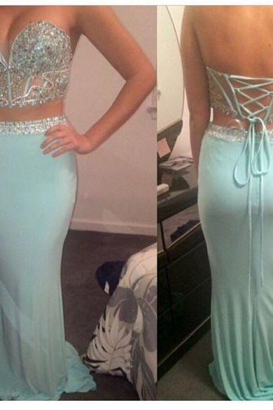 Prom Dresses,Two Pieces Prom Dresses,Mermaid Prom Dresses,Sweetheart Prom Dresses,Blue Prom Dresses,Mermaid Prom Gowns,Evening Dresses With Beads,Sexy Party Dresses,Graduation Dresses for Teens